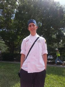 John Glinsky worked as prep cook at a signature restaurant at Disney World in Florida last year as part of an externship program. He will be returning to work at a different restaurant this month.