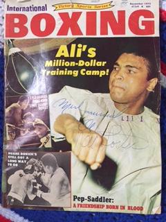 Ali autograph photo
