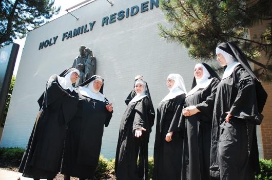 Nunsese cast at Holy Family.JPG