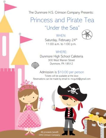 Crimson Company Princess Pirate Tea POSTER