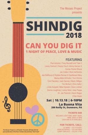 Ross Cordaro Shindig Poster